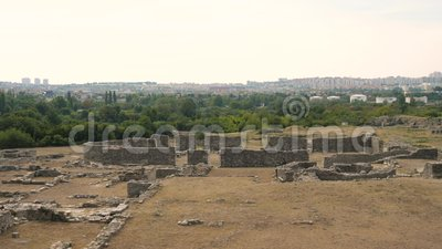 Седьмой век древнего города Salona ДО РОЖДЕСТВА ХРИСТОВА, Хорватия сток-видео