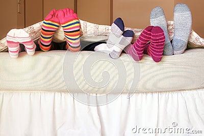 семья кровати
