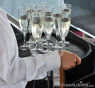 сервировка шампанского
