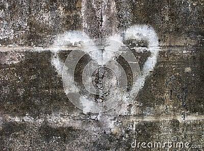 сердце надписи на стенах
