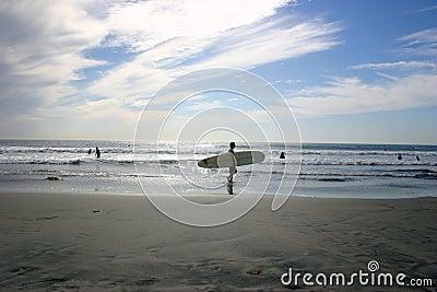 серфер пляжа