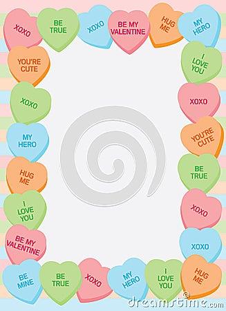 сердце рамки конфеты