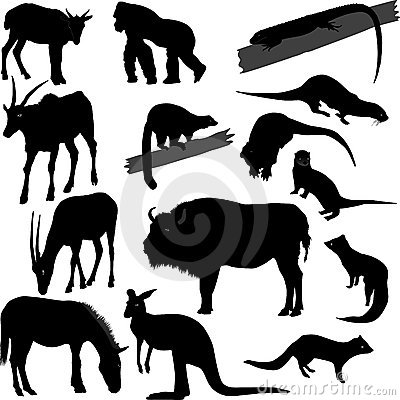силуэты животных