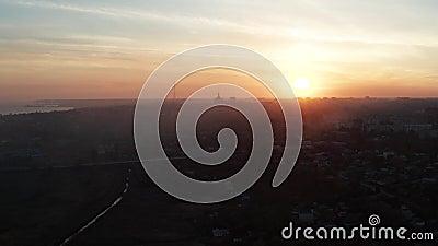 Силуэты зданий в городе Mariupol видеоматериал