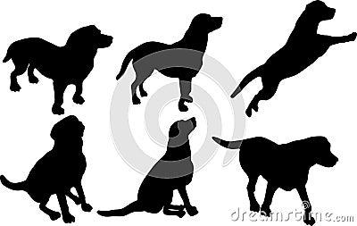 силуэты собаки
