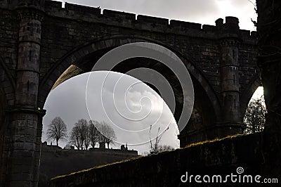 Силуэт Англия моста замка