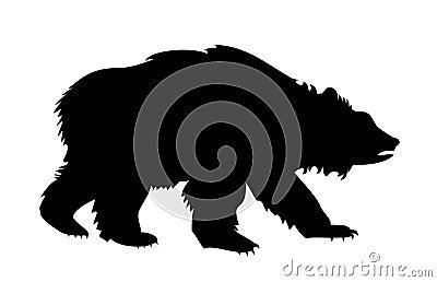 силуэт медведя