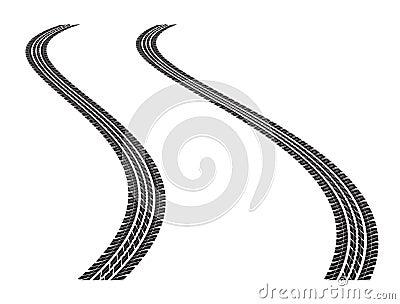 следы автошины
