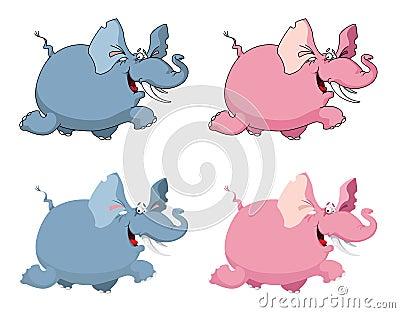 Слон смешной