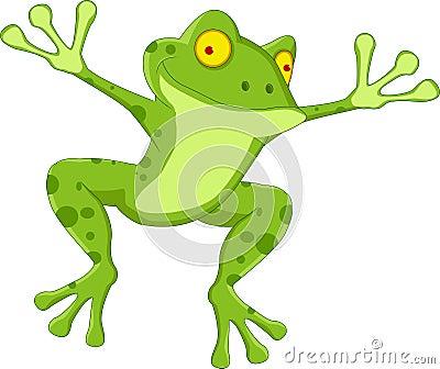 Смешной шарж лягушки