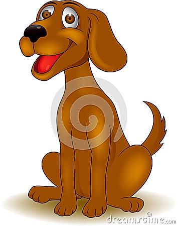 Смешной шарж собаки
