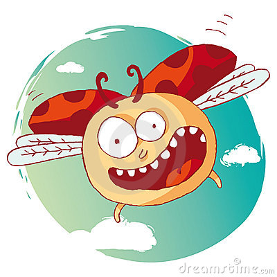 смешной ladybug