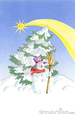 снеговик рождества