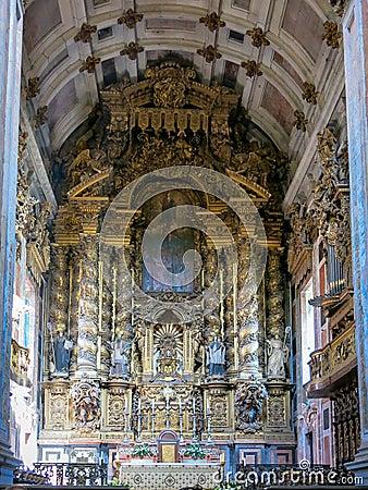 Собор Sé в Порту Редакционное Изображение