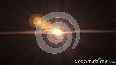 Солнечный свет с бликом на черном Дизайн движения 'Восход солнца' Цифровая объектива видеоматериал