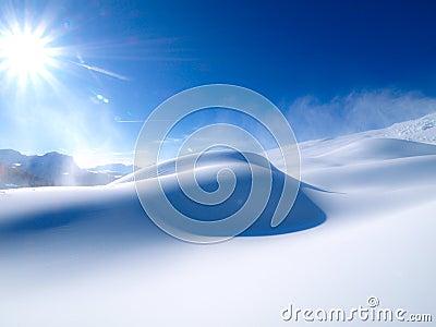 солнце снежка