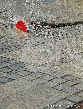 Спринклер на улице