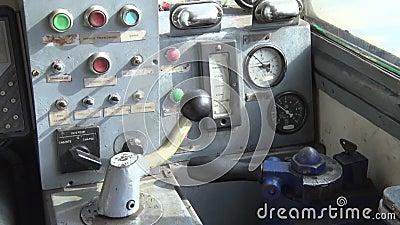Старая приборная панель для корабля видеоматериал