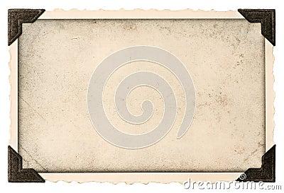 Старая рамка фото с угловым и пустым полем для вашего изображения