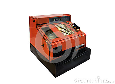 Старый кассовый аппарат