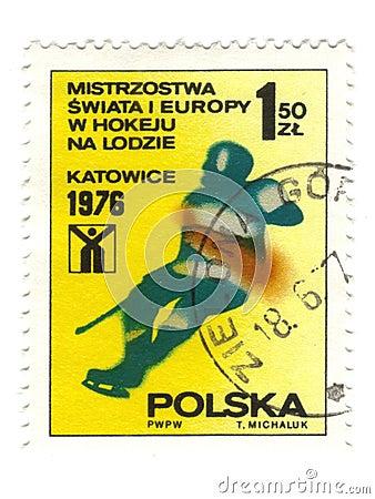 старый польский штемпель