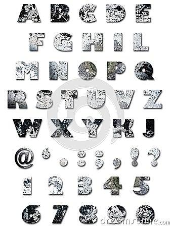 стена текстуры алфавита