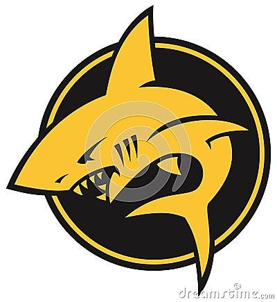 Стилизованный логотип акулы