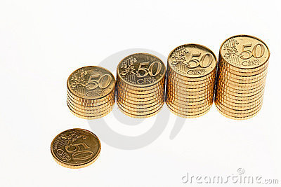 стог евро монеток