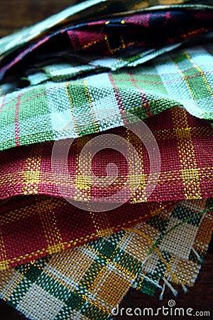стог ткани выстегивая