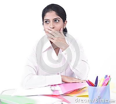 стол ее деятельность женщины офиса