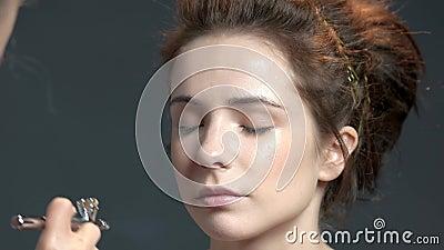 Сторона женщины, airbrush акции видеоматериалы