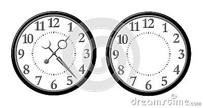 шаблон циферблата часов скачать