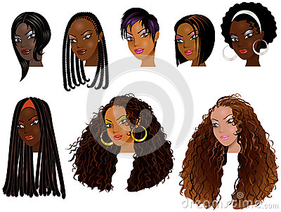 Стороны 2 чернокожих женщин