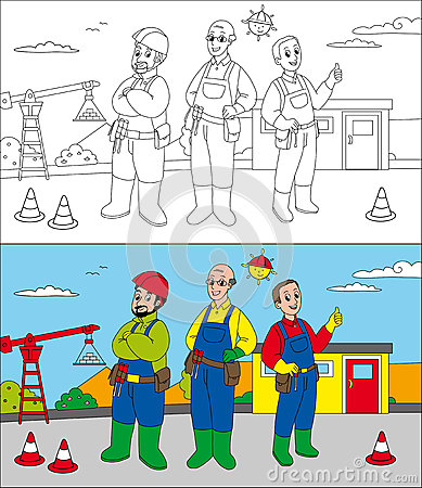 Строители строительной площадки