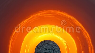 Сферическая панорама красивого заката бесплатная иллюстрация
