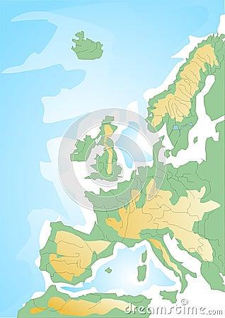 моря схемы карты европы.