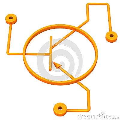 Схема транзистора, 3d