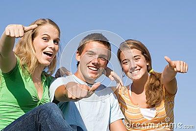 счастливый подросток