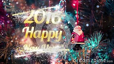 Счастливое вступление 2016 Нового Года видеоматериал