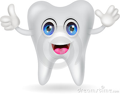Счастливый шарж зуба