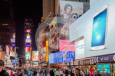 Таймс площадь, Нью-Йорк Редакционное Стоковое Фото