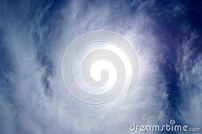 текстура солнца облака