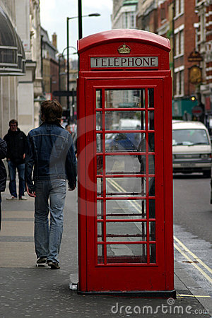 телефон london коробки Редакционное Фотография