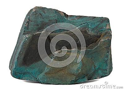 Темно - зеленый камень