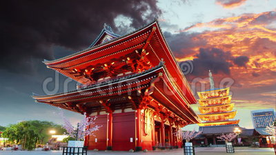 Токио - Sensoji-ji, висок в Asakusa, Японии