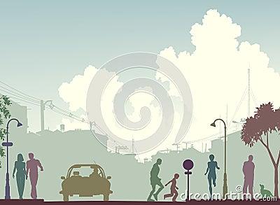тонизированная улица