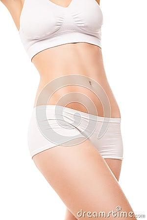 Тонкое тело женщины