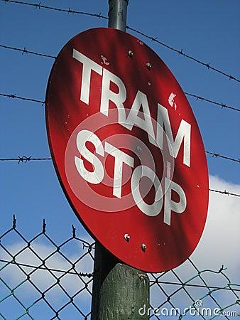 трам стопа знака