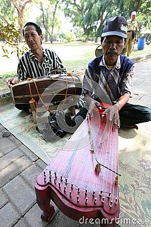 Традиционная музыка Редакционное Фотография