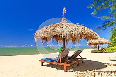 Тропический пейзаж пляжа